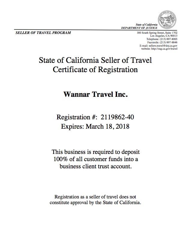 玩哪儿旅行 - 美国旅行社执照