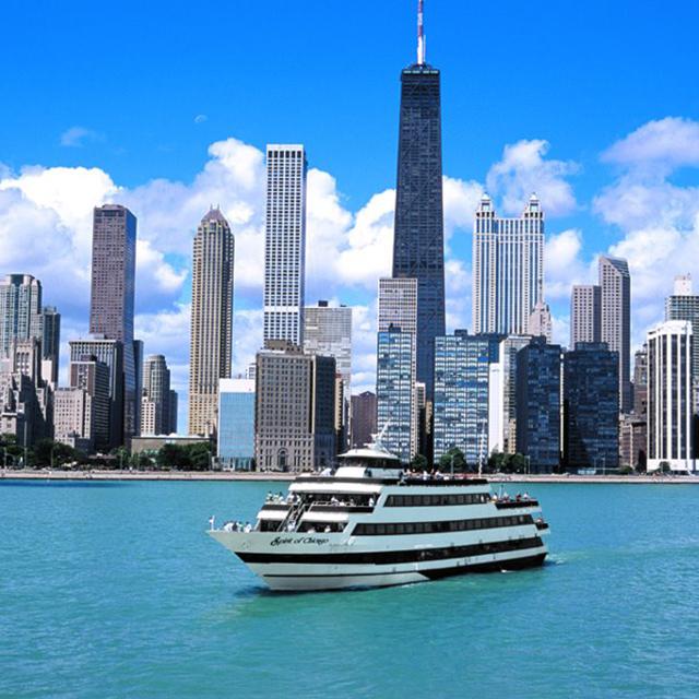 芝加哥出发游船观光、美食品鉴1日游:CH-T-1861