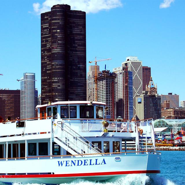 芝加哥出发游船观光1日游:CH-T-2077