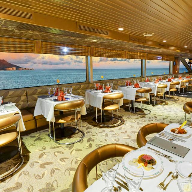 檀香山出发游船观光、美食品鉴1日游:HO-T-1022