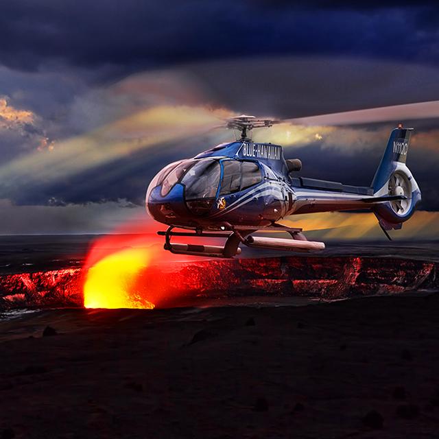 夏威夷大岛出发空中观光1日游:HO-T-989
