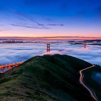 旧金山出发机场接送/城市接驳1日游:SF-T-1269