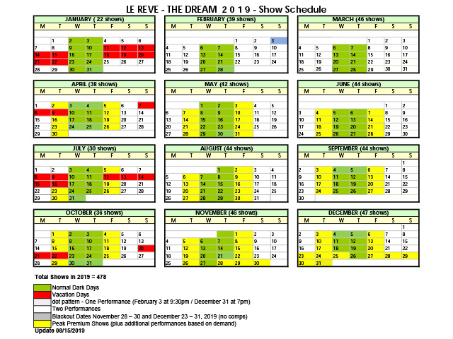 Time table from January to June 2019