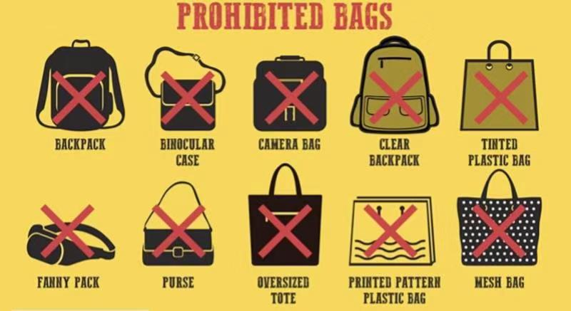 The listed bags in the picture are not allowed to be brought into Antelope Canyon (including upper canyon and lower canyon)